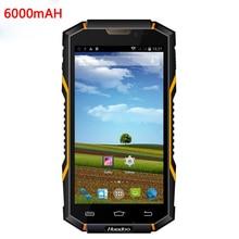 "Original Android Wasserdichte Telefon 6000 mAH IP68 Stoßfest Robuste Smartphone 1 GB RAM 5,0 ""telefon MTK6582 Quad Core V4 3G GPS"