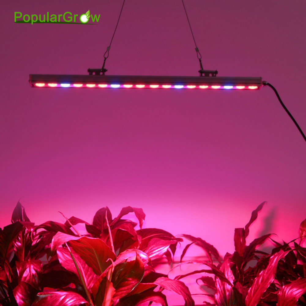 5pcs/lot 54w IP65 Waterproof Led Grow Light Bar strip LEDs for plant growth veg flower Lamp Lighting Hydro Greenhouse Aeroponic 5pcs lot 108w waterproof uv ir led grow light bar for greenhouse indoor garden commercial plant veg flower growth grow tent
