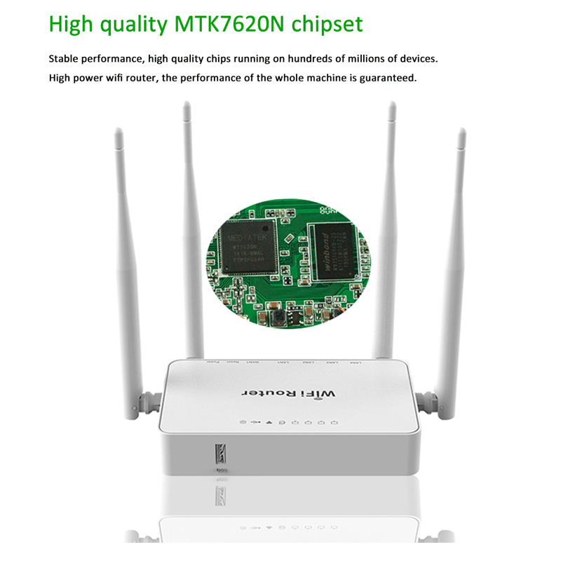 300Mbps 4 External Antennas Openwrt Router Support Usb Modem 192.168.1.1 64M RAM Wireless Wifi Router With 8M Flash 64M RAM