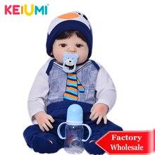 Ограниченная Коллекция, 23 дюйма, кукла-Реборн, игрушки, 57 см, полностью силиконовая, виниловая, Реалистичная, красивая, для младенцев, кукла для мальчиков, подарок на день рождения