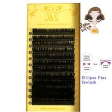 J&S 0.20*J/B/C/D 2pc/lot 8-14mm mix length matte flat excellent quality silk eyelash extension individual lash strip super soft