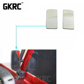2pcs Metal Rearview Mirror Glossy Mirror For 1/10 Rc Crawler Car Defender Traxxas Trx4 Mirror Reflector Rearview Mirror image
