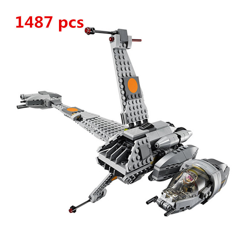 2018 Lepin 05045 Star War Series The B Starfighter Wing Educational Building Blocks Bricks Toys 10227 For Gifts Model Militar lepin 05040 y attack starfighter wing building block assembled brick star series war toys compatible with 10134 educational gift