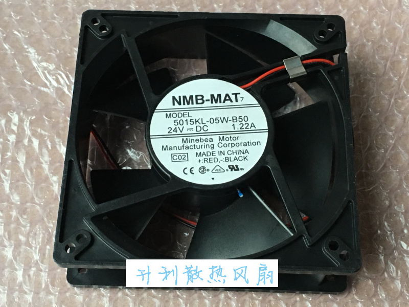 NMB-MAT 5015KL-05W-B50 C02 Server Square Cooling Fan DC 24V 1.22A 127x127x38mm 2-wire nmb mat 3110kl 04w b49 b02 b01 dc 12v 0 26a 3 wire server square fan