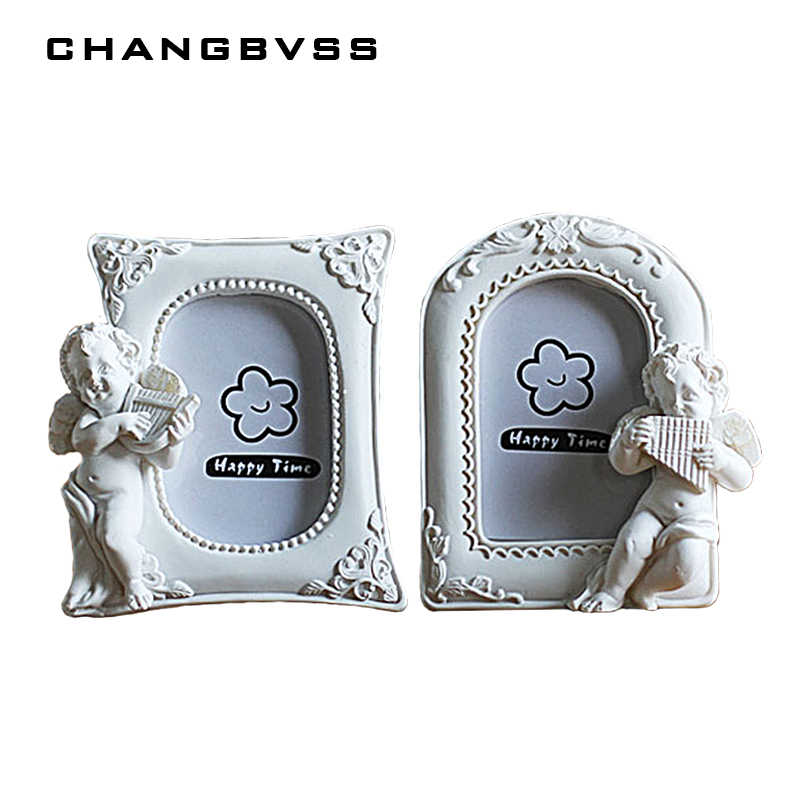 Little Angel 1PC Picture Frame Korean 2 Inch White Mini Photo Frame Home Decor Resin Picture Album For Child, ramka na zdjecie