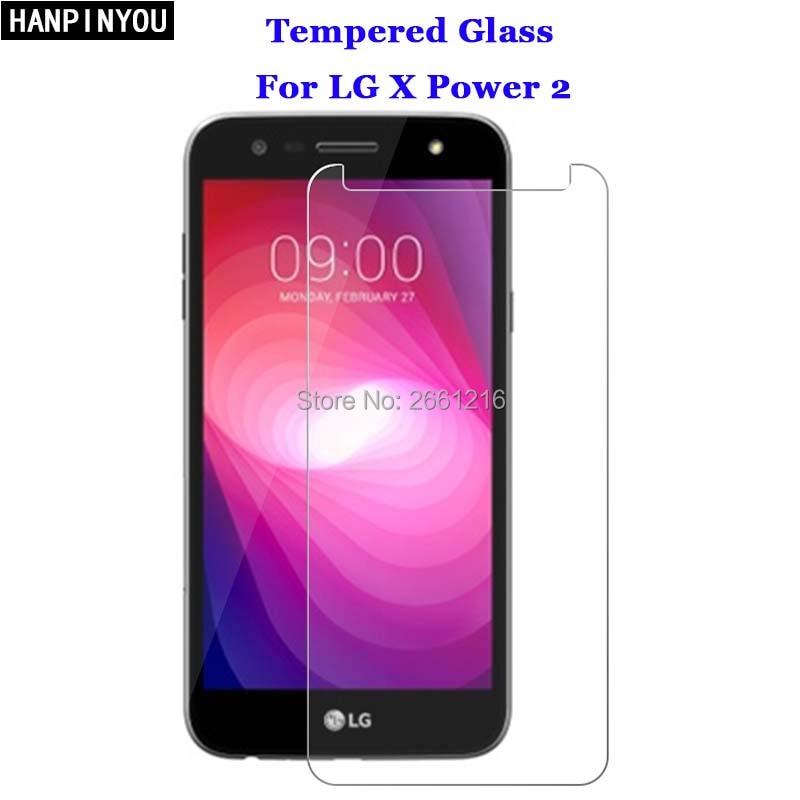 "Para LG X Power2 vidrio templado 9 H 2.5D película protectora de pantalla Premium para LG X Power 2 II/ xpower 2/LG K10 de 5,5"""