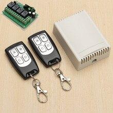 Interruptor de relé de Control remoto 2 transceptor + receptor, 12V CC, 4 canales, 4 vías, inalámbrico, RF, 315MHz