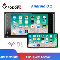 Podofo Android 8.1 Car Multimedia Player GPS Car Radios 2 Din 7'' Auto Radio Bluetooth Auto Audio FM AUX USB For Toyota Corolla