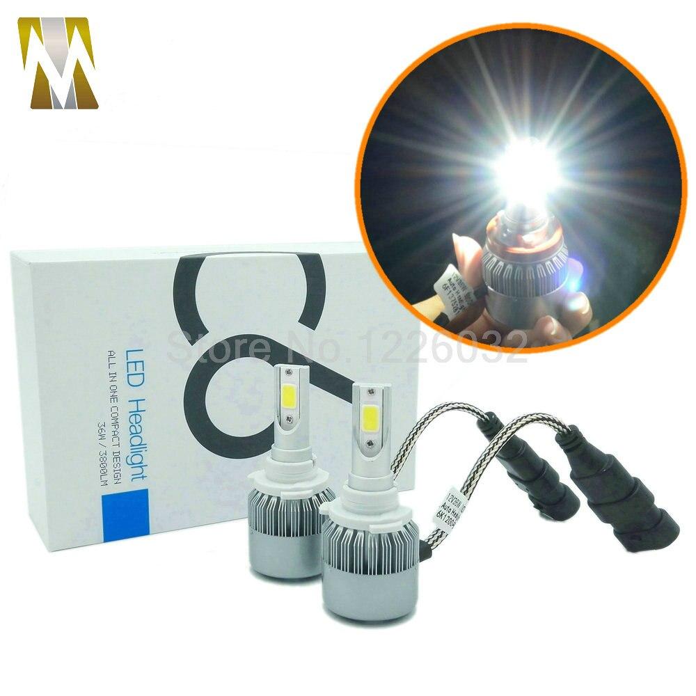 цены  Small Size 3800lm 9005 Car LED Headlight Plug&Play Kit Headlamp H1 H3 H7 H8 H9 H11 9005 HB3 9006 HB4 880 881
