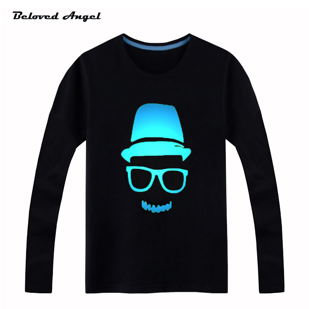 Beloved-Angel-New-Design-100-Cotton-Boys-Girls-T-Shirt-Kids-Long-Sleeves-Tops-Neon-Print-Shine-Blu-ray-Children-Tees-3