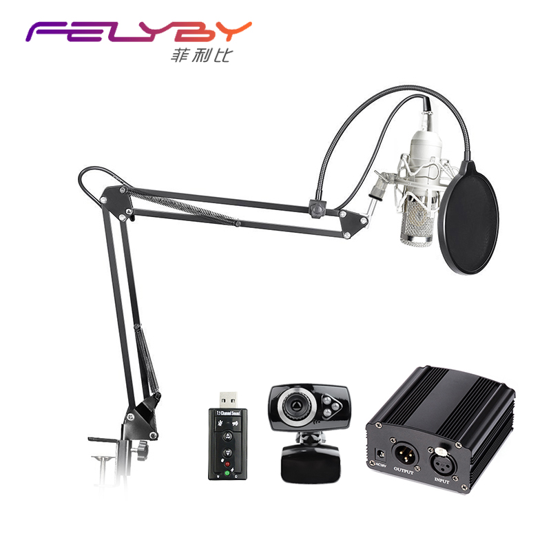 Professional condenser microphone BM 800 audio studio recording microphone 48v phantom power supply Usb sound card video chat superlux ecm999 ecm 999 highly reliable professional measument microphone condenser testing microphone