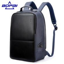 Многофункциональный USB зарядки Для мужчин 14-15 дюймов ноутбука Рюкзаки для подростков Модные мужские Mochila отдыха и путешествий рюкзак анти-вор