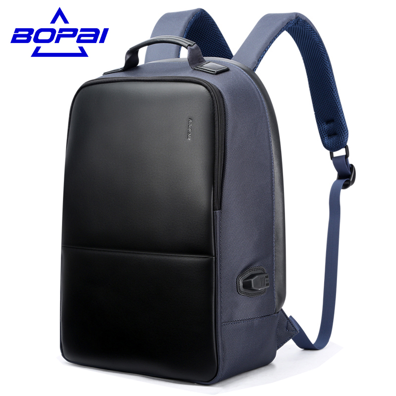 Multifunction USB charging Men inch Laptop Backpacks For Teenager Fashion Male Mochila