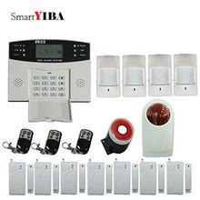 SmartYIBA Home GSM SMS Security Alarm System Metal Remote Controller Strobe&Flash Siren Alarm Kits Wireless Home Alarma