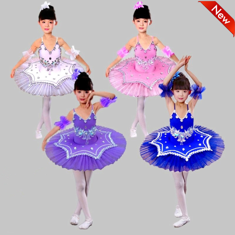 New Girls Pancake tutus Dance Costumes Child Professional Platter tutu Ballet Dress