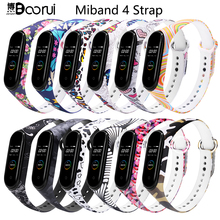 BOORUI Mi Band 4 Dây Đeo Silicon Miband 4 Toàn Cầu Phụ Kiện Thể Thao Dây Đeo Tay Thay Thế Cho Xiaomi Mi Band 4 Thông Minh vòng Tay