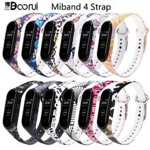 BOORUI mi band 4 strap silicone miband 4 global accessories sports wrist strap replacement for xiaomi mi band 4 smart bracelets