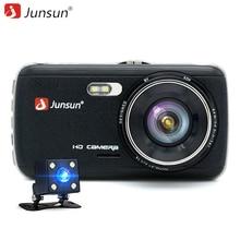 """Junsun 4.0 """"IPS FHD 1080 P Coche DVR Cámara de Doble Lente Dash Cam con vista Posterior Auto Registrator Grabadora de Vídeo Digital Videocámara"""