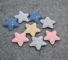 Sew on 3 style  40pcs/lot star ,heart and elephant Padded Patches Appliques For Clothes Sewing Supplies Decoration