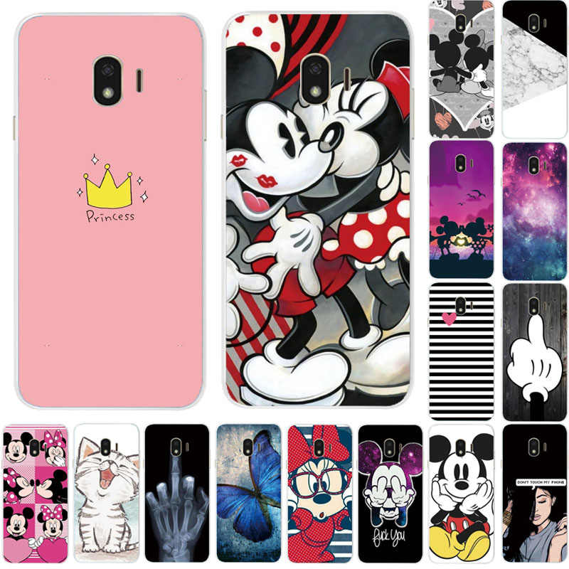 Phone Case For Samsung Galaxy J4 2018 Case Cover Cartoon Soft Silicone TPU Back Cover For Samsung Galaxy J4 Plus Case