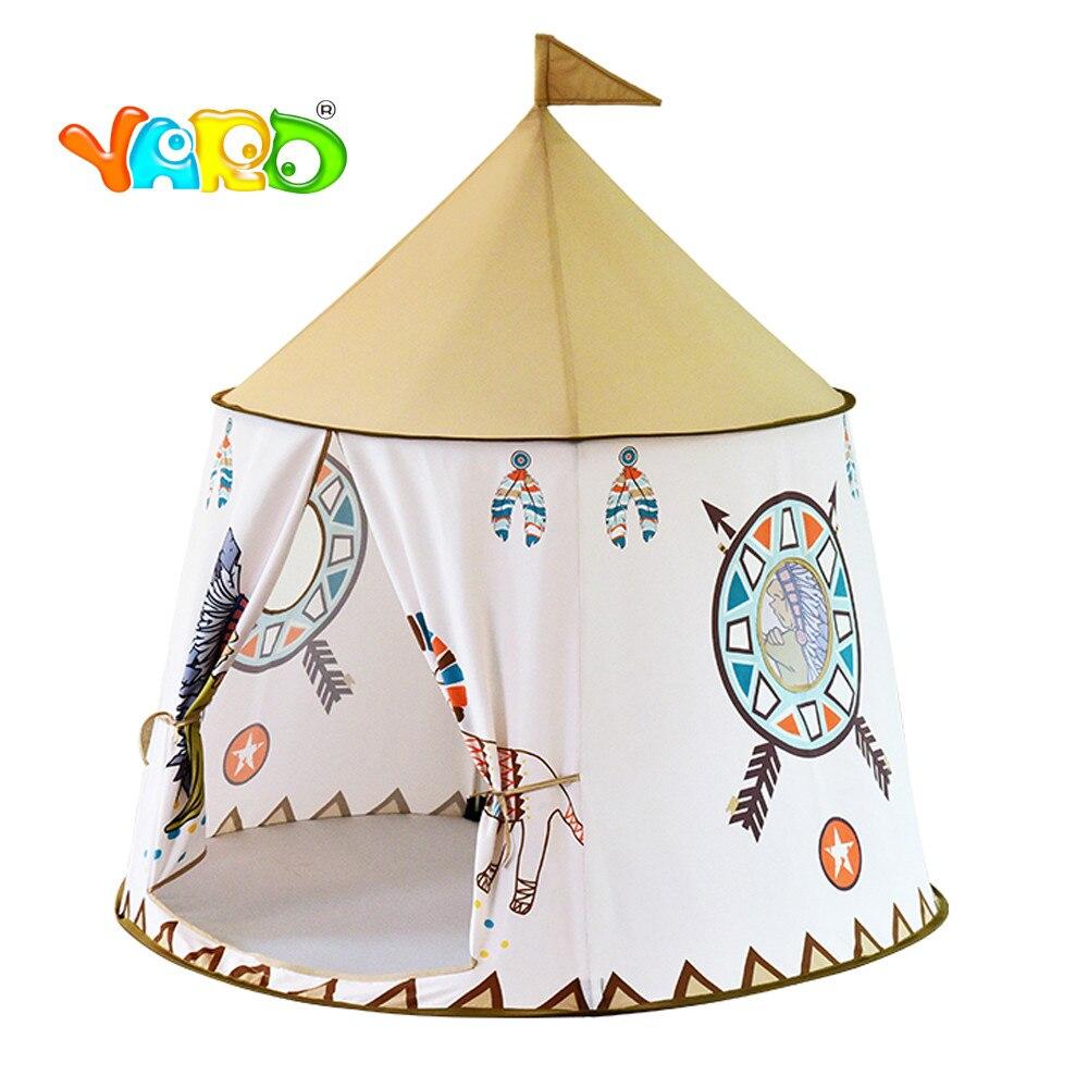 116*123 cm YARD tente pour enfants Portable princesse château jouer tente enfants tente tipi tente pour enfants maisons de jeux pour enfants