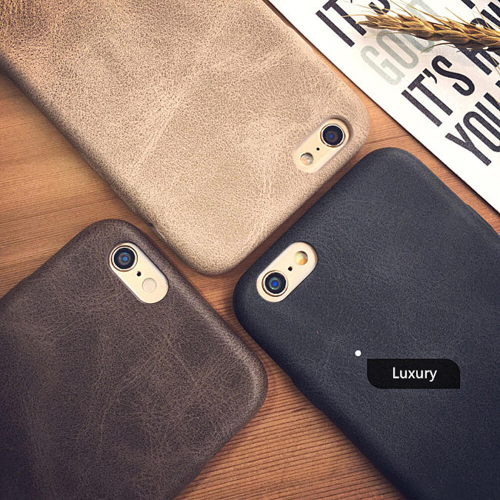 Classic Vintage PU Leather Iphone 7 6S 6 S 8 Plus Ultra Thin Soft Shockproof Phone Back Cover For Iphone 8Plus
