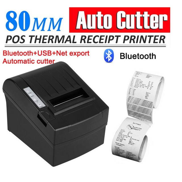 Bluetooth Wireless 80mm POS Thermal Receipt Printer 300mm/s Auto Cutter For Windows Android IOS_DHL