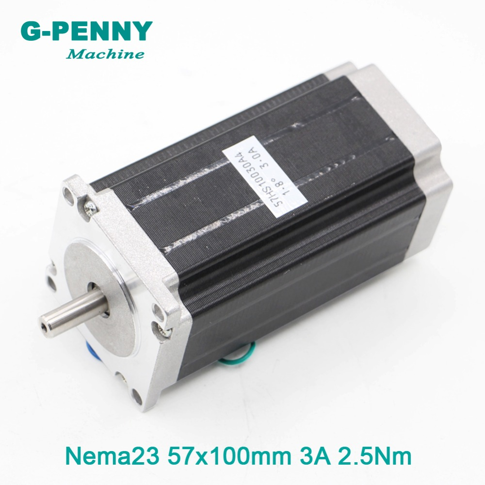 NEMA23 stepper motor 57 X 100mm 3A 2.5N.m CNC stepping motor 357Oz-in 8mm shaft for engraving machine for 3D printer 86 square stepper motor hybrid stepping motor engraving machine motor accessories 3d printer accessories diy