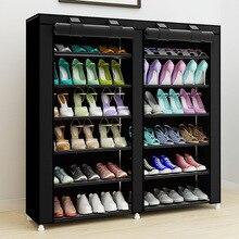 43.3-дюймовый 7-слоя 9-сетка нетканых материалов большой шкаф для обуви Организатор съемный для хранения обуви для дома мебель шкаф для обуви