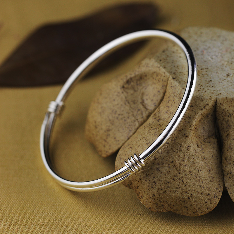 Simple Design 100 990 Sterling Silver Bangles Women S Fashion Jewelry Fine Wedding Gifts Top Quality