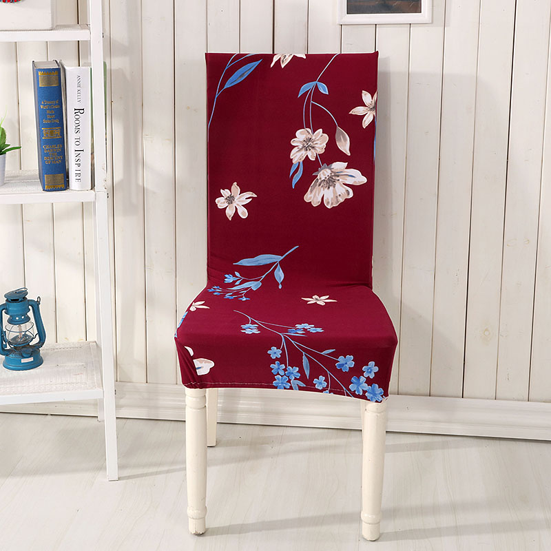 Spandex Elastic Polyester Chair Covers Flowers Printed