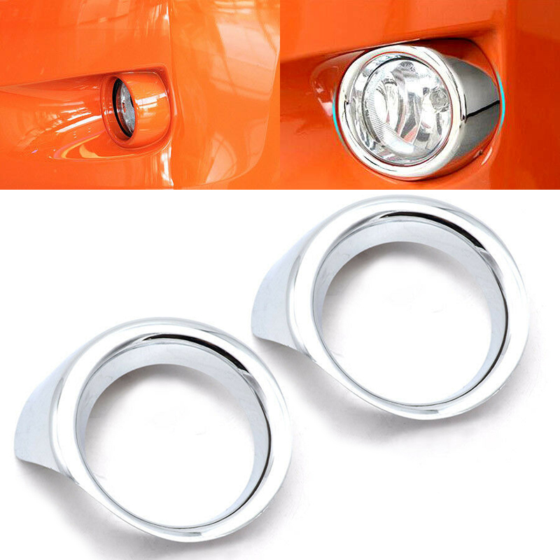 1 Pair Front Fog Light Lamp Bumper Chrome Cover Trim Ring For Subaru XV 2012-2015 XV Corsstrek 2013-2015 Front Fog Light Cover