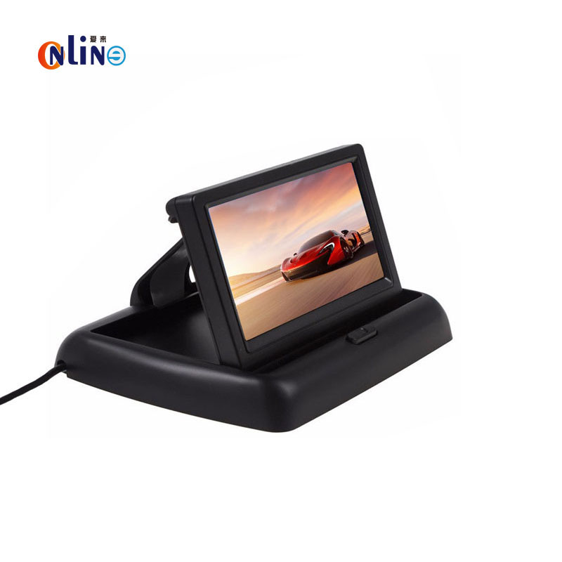Online/ HD 480H x 272V 4.3 TFT LCD Car Monitor With 2 Channel Video Input For Car Rear View Reversing Camera Support NTSC / PAL