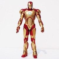1 개 18 센치메터 철 남자 3 마크 42 PVC 액션 그림 슈퍼 영웅 컬렉션 모델 장난감 큰 선물