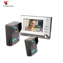 Yobang Security 7″ Door bell phone System Kit Night vision Outdoor Bell Camera door monitor Video Intercom 2 camera +1 monitor