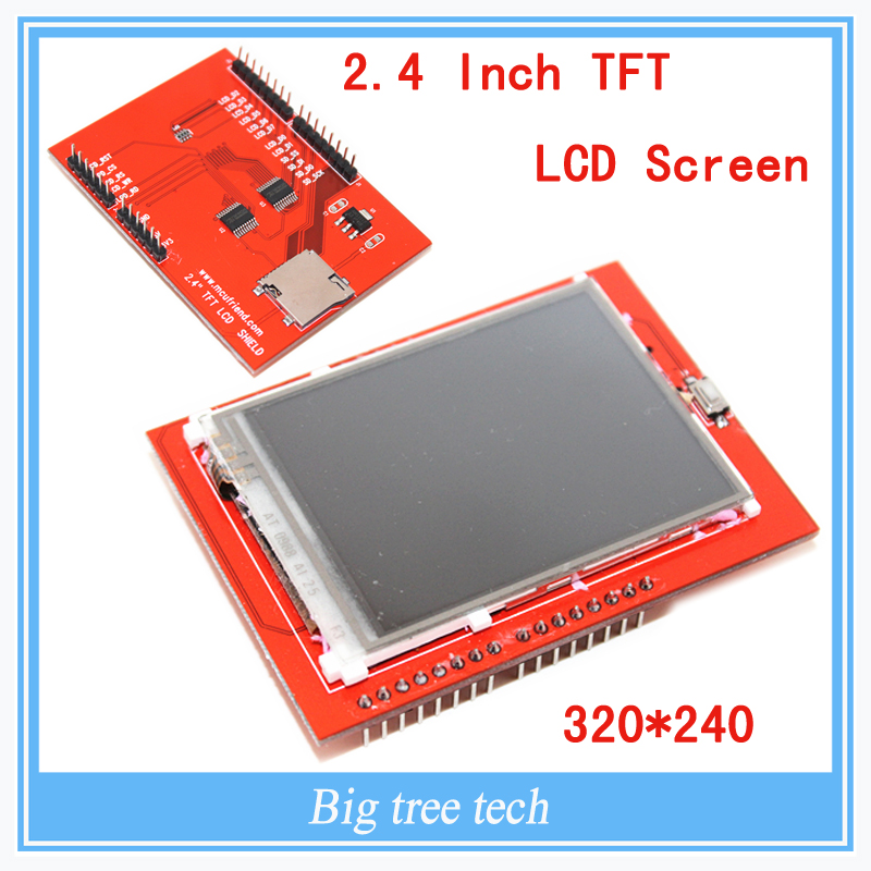 LCD module TFT 2.4 inch TFT LCD screen for Arduino UNO R3 Board and support mega 2560 for 3D printer part open smart uno atmega328p development board for arduino uno r3