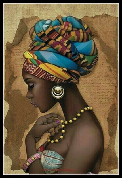Needlework For Embroidery DIY Crafts DMC Color High Quality - Counted Cross Stitch Kits 14 Ct Oil Painting - African Girl