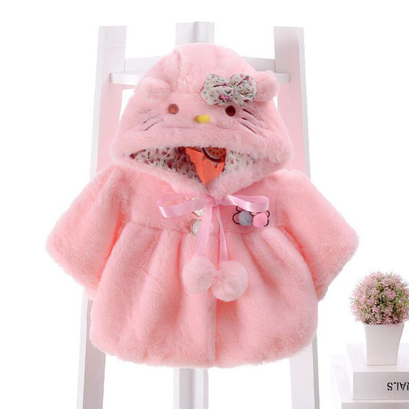 946ae2b25 ROMIRUS Brand Baby Coats Thick Winter Warm Girls Clothes Cloak Cute ...