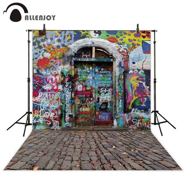 Allenjoy fotografie hintergrund Gedruckt rock Graffiti tür neugeborenen foto studio photo hintergrund original design
