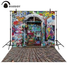 Allenjoy photography backdrop Printed rock Graffiti door newborn photo studio photocall background original design