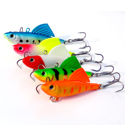 Image 4 - 1Pcs 16.5g 6.5cm VIB Fishing Soft Silicone Lead Lure Bait Wobbler Artificial Sinking Soft Bait 3D eye Winter Sea Fishing-in Fishing Lures from Sports & Entertainment