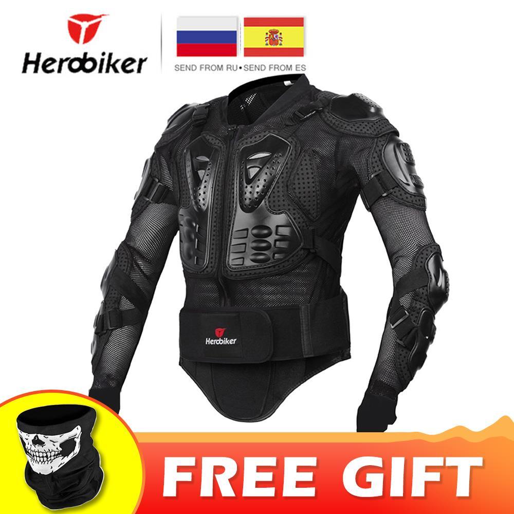 Chaqueta de motocicleta HEROBIKER para hombre de cuerpo completo armadura de motocicleta Motocross de carreras de equipo de protección de motocicleta tamaño S-5XL #