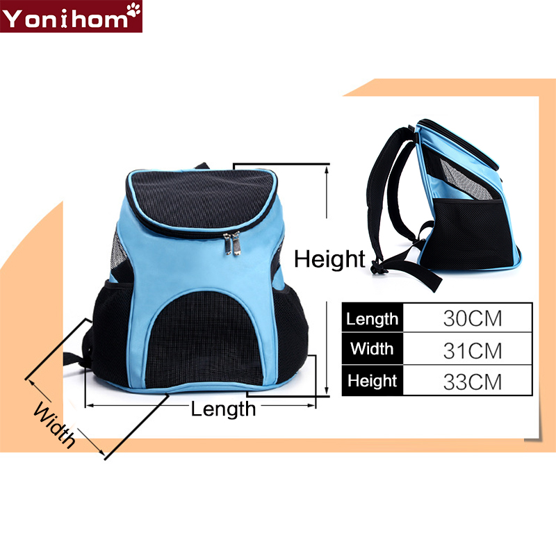 Pet Dog Carriers Backpack Bags Pet Cat Outdoor Travel Carrier Packbag Portable Zipper Mesh Backpack Breathable Dog Bags Supplies in Dog Carriers from Home Garden