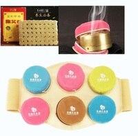 Detachable high quality pure Copper moxibustion box portable moxibustion massage acupuncture point system cauterize moxibust bag