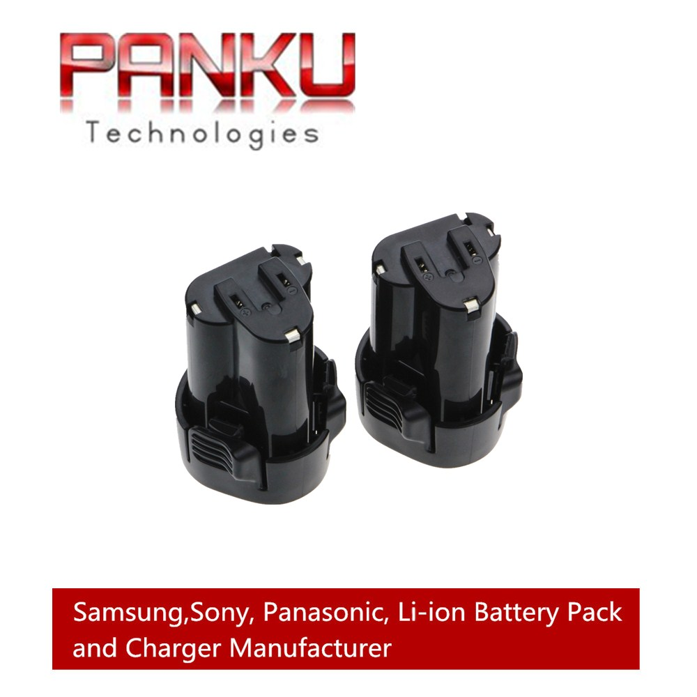 2 X PANKU 10.8V 2000mAh Replacement Battery for Makita Makbl1013 Bl1013 10.8-volt Li-ion Pod Style Battery 194551-4 194550-6 panku 14 4v 3 0ah replacement battery for bosch bat038 bat040 bat041 bat140 bat159 bat041 2607335534 35614 13614 3660k 3660ck