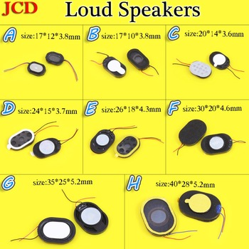 Common Maintenance parts Earpiece Speaker Ear Oval loudspeaker with electric wire 17*10*3.8/17*12*3.8/20*14*3.6/24*15*3.7mm... image