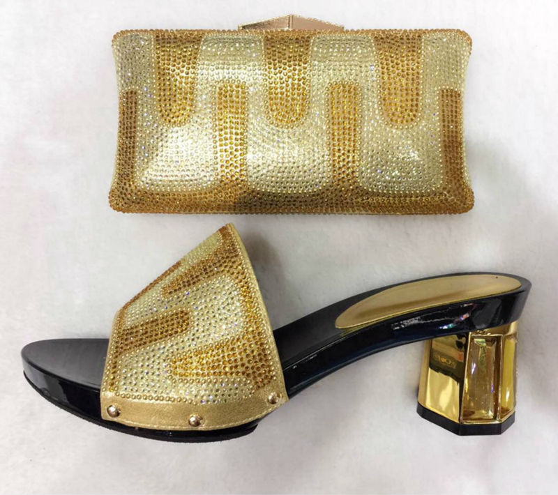 ФОТО 2017 Latest Good Selling African Matching Shoes And Bag Set Italian Matching Shoe And Bag Size 38-43 TT1605