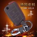 Leather Wallet Keychain For Volkswagen Vw Golf 7 Leather Key Holder Ring 3 Button Leather Key Bag 4 Stitch Color Key Case Bag