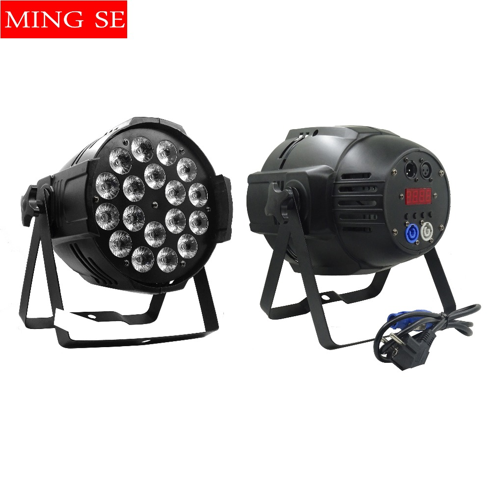 1pcs 18x12w led Par lights RGBW 4in1led dmx512 disco lights professional stage dj equipment romanson rl 5a23 lr bu