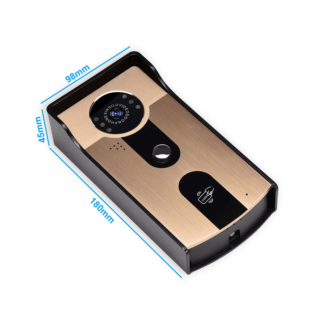 Outdoor Camera WiFi Video Intercom Doorbell Night Vision With 4Pcs ID Card